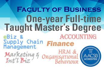 Thinking of master's degree in business? See what our Faculty of Business offers