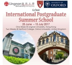 Lingnan to cohost postgraduate summer school with Hertford College, University of Oxford