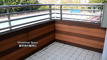 Wheelchair Space in Swimming Pool