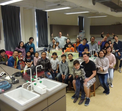 First Family Science Day ever in Lingnan