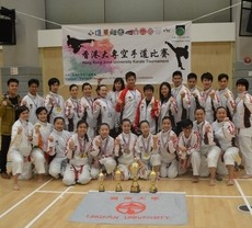 Karate Team of Lingnan crowned Overall Champion in the Joint University Tournament