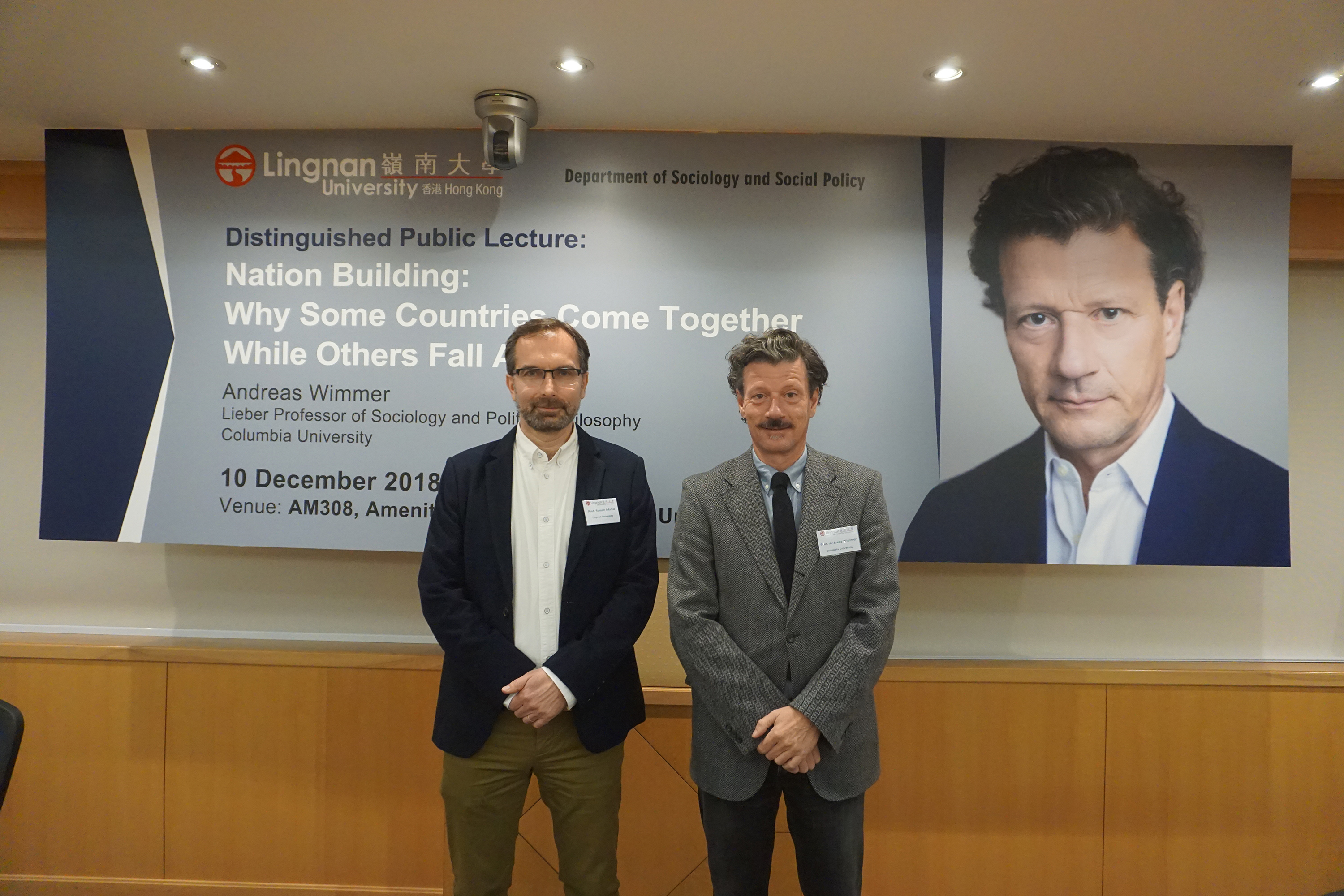 Professor Andreas Wimmer shares his insights on researching nation building at Distinguished Public Lecture in Lingnan University