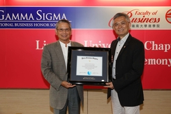 Best in class acknowledged at the 8th Induction Ceremony of the Beta Gamma Sigma Lingnan University Chapter