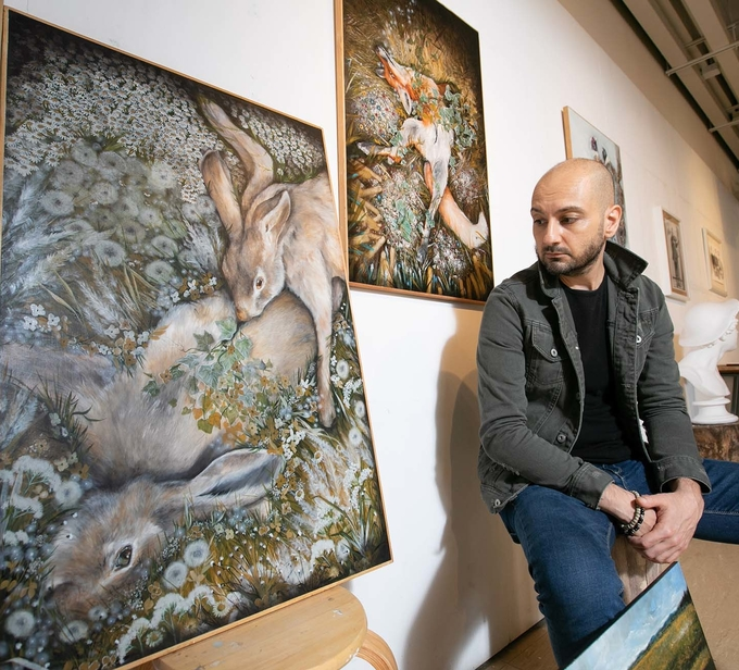 Artist-in-residence Nunzio Paci's works on campus
