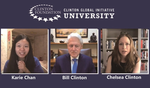 LU student discusses with former US President Bill Clinton about challenges faced during pandemic
