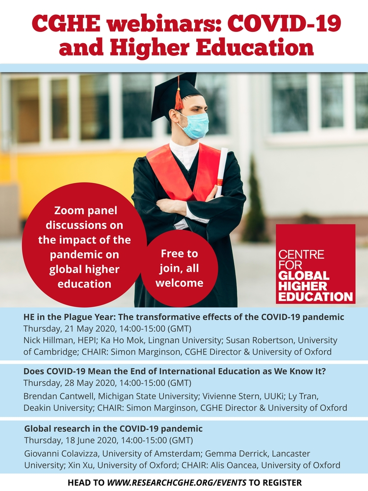 CGHE webinars COVID-19 and Higher Education