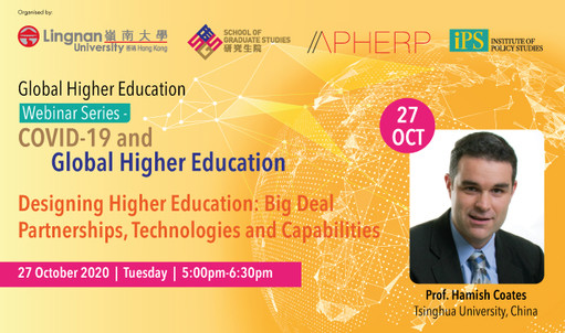 Rather than dwelling on dystopian discontents, this webinar by Prof Hamish Coates, Tsinghua University charts narratives for developing the higher education industry. Hear more at the Global Higher Education Webinar Series on 27 Oct 2020