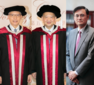 Lingnan confers honorary doctoral degrees upon Rex Auyeung, Geoffrey Ma and Qian Yingyi