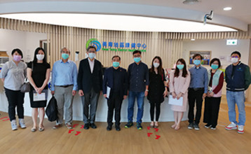 Lingnan colleagues visited Kwai Tsing District Health Centre (K&TDHC) on 1 Apr 2021